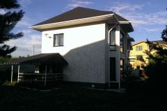 Отделка дома фасадными панелями FineBer Камень крупный