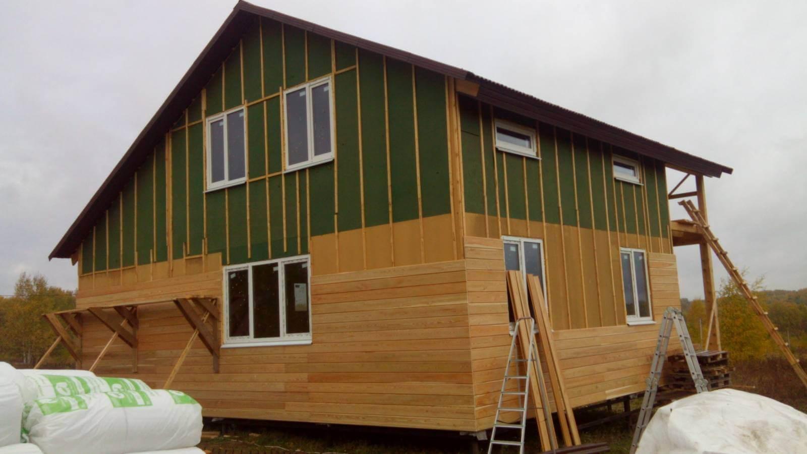 Обшить деревянный дом