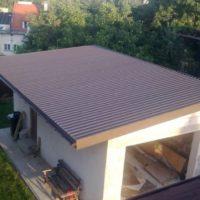 односкатная крыша из профнастила для гаража