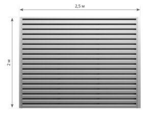 размеры металлического забора жалюзи фото