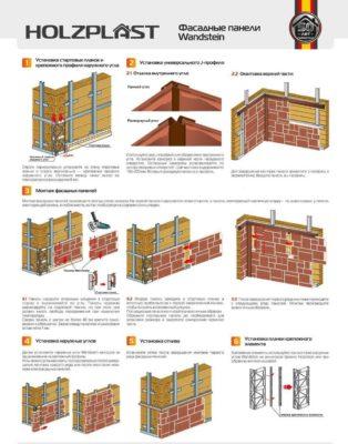 монтаж фасадных панелей своими руками - схема